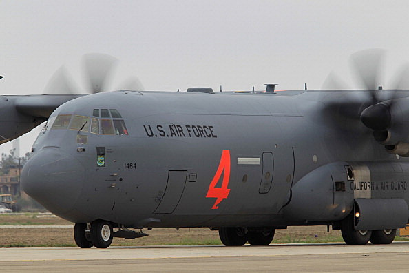 A C-130 like the crashed plane in Afghanistan seen in Arizona. David McNew/Getty Images Stringer