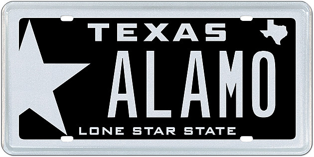 ALAMO- Texas Specialty License Plate-- My Plates