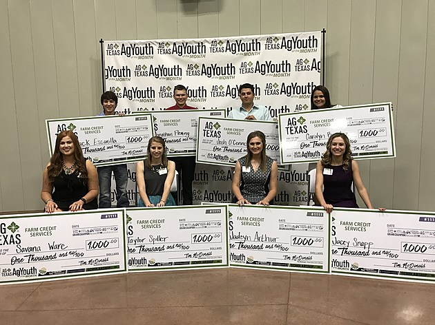 AgTexas Farm Credit Services- AgYouth of the Month Scholarship Winners- Lubbock 050217