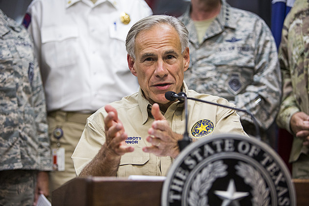 Texas Governor Abbott Holds News Conference To Update On Hurricane Harvey