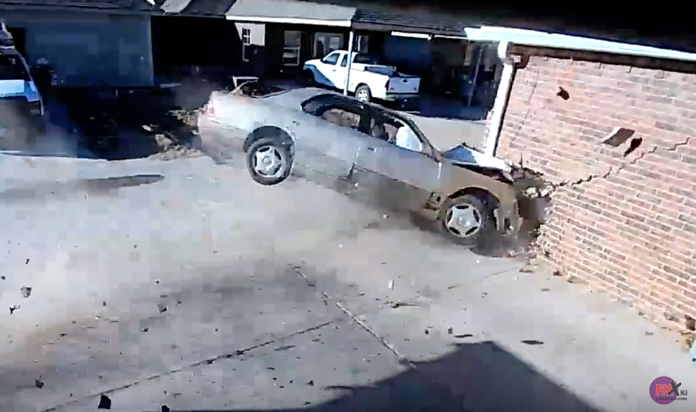 VIDEO: Car Crashes Into Lubbock Home, Nearly Destroying It